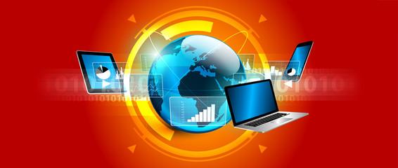 affari, network, internet, comunicazione