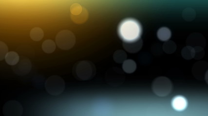 colored bokeh on the black background