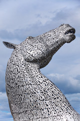 Sculptures The Kelpies at the Helix Park in Falkirk, Scotland