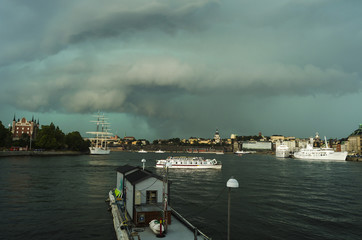 Stormy weather in Stockholm, Sweden