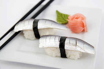 nigiri sardinela sushi. Traditional japanese food