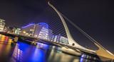 Samuel Beckett bridge in Dublin, Ireland at night - 78118421