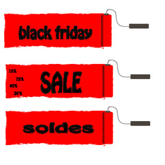 roller paint  with red paint  Black Friday and sale