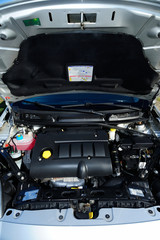 car, engine, clean, new, raised, cover, horse