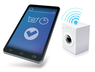 Mobile device managing a washing machine