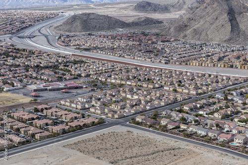 Foto op Canvas Las Vegas Las Vegas Suburban Sprawl