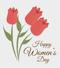 Womens day card design, vector illustration.