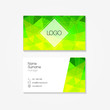 Polygonal business card. Vector illustration.