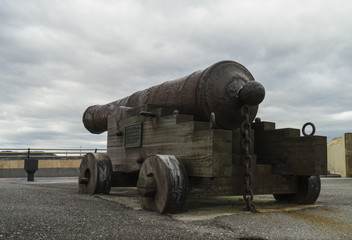Defense cannon in Gijon