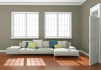 modernes Sofa in Apartment