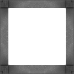 blank white textile banners