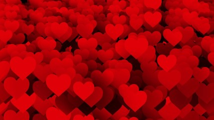 Abstract red Hearts background