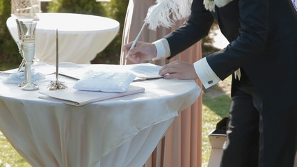 Groom signature wedding contract