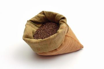 Chia Samen in einem Braunen Sack
