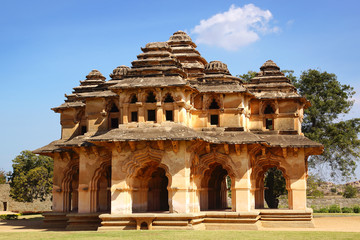 Ancient ruins of Lotus Temple. Hampi, India.