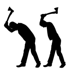 people with axes