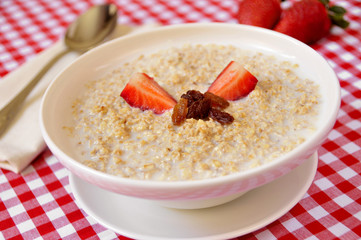 bowl with porridge