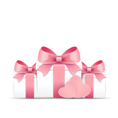Valentine card with gift boxes