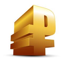 Gold ruble icon