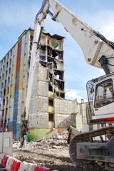 démolition d'un immeuble