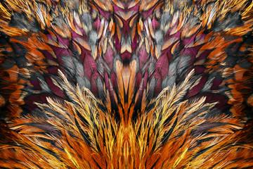 Grupa jasny brązowy pióro jakiegoś ptaka