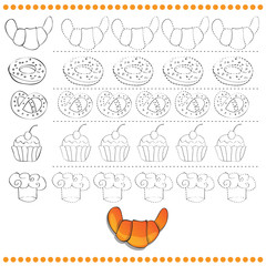 Connect the dots number of images - exercise for kids