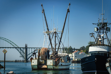 boat fishermen crane
