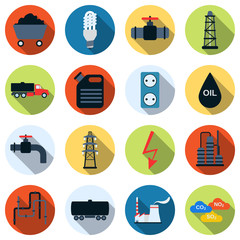 Energy vector icons
