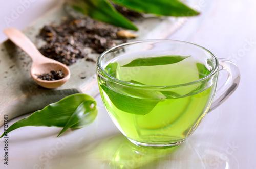 Fotobehang Thee Green herbal tea