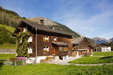 Traditional chalet in Alps regions