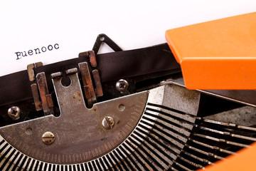 The Vintage Typewriter some word macro style