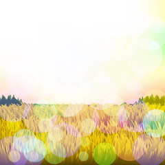 Abstract background with grass and bokeh. Vector. 2