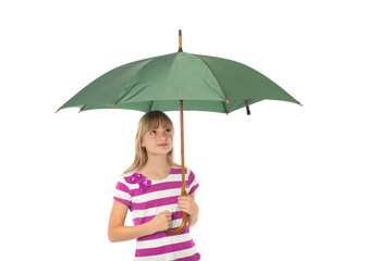 Gril with umbrella