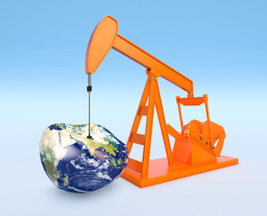 shortage of oil resources - Elements of this image furnished by