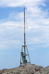 Triangulation station on the top of mount Ai-Petri, Crimea