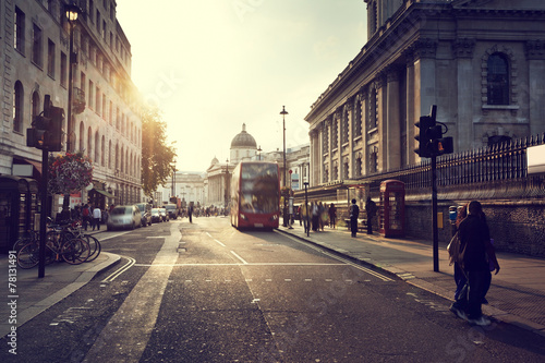 Foto op Plexiglas Londen sunset near Trafalgar square, London, UK