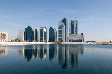 New buildings in Abu Dhabi City, United Arab Emirates
