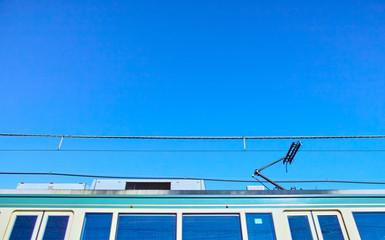 江ノ電と青空