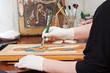 Icon-painter makes new Christian icon