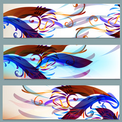 Abstract colorful backgrounds set