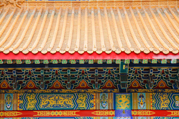 Traditional Chinese style temple at Wat Leng-Noei-Yi in Nonthabu