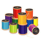 Fototapety Needle, Threads, sew, tailor, quilt, embroider, do it yourself