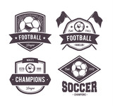Vector Footballl Emblems poster
