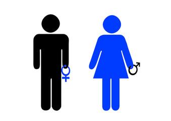 Piktogramm / Mann, Frau / Liebe