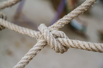 Rope knotted.