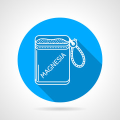 Round vector icon for magnesia bag