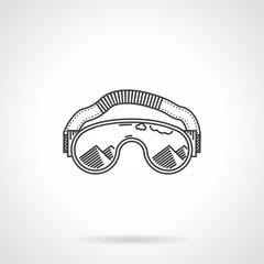 Black line ski glasses