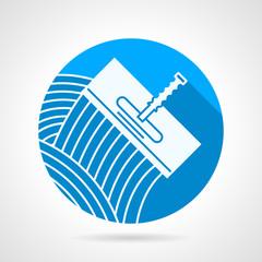 Round vector icon for spatula