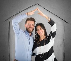 Couple in love dreams a home