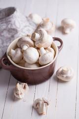 Raw mushrooms